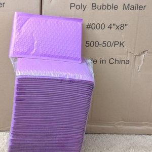 "200 4"" x 8"" #000 Purple Padded Bubble Mailers"